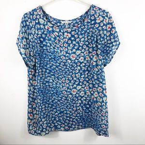 Cabi Floral Crossover & Button Back Style 299